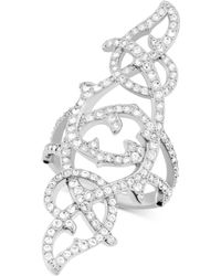 Swarovski Grace Rhodium-plated Crystal Ring - Lyst