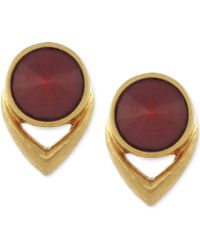 Vince Camuto - Gold-tone Round Stud Earrings - Lyst