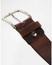 Royal Republiq - Leather Limit Belt In Brown - Lyst
