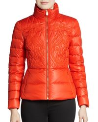 Versace Paisley-Quilted Down Jacket - Lyst