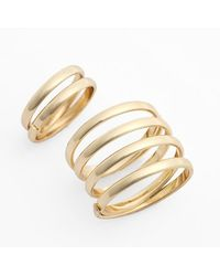 Topshop Women'S Spiral Ring Pack - Gold (Set Of 2) - Lyst