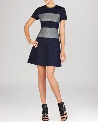 BCBGMAXAZRIA Dress - Romee Fabric Blocked - Lyst