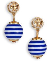 Tory Burch Saher Logo Drop Earrings - Lyst