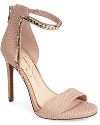 Jessica Simpson 'Redith' Chain Embellished Sandal - Lyst