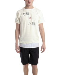 Via Spare Day By Day T-Shirt white - Lyst