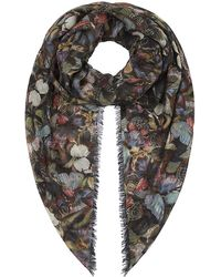 Valentino Camo Butterfly Print Cashmere Scarf - Lyst