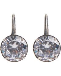 Bottega Veneta - Cubic Zirconia And Oxidised-silver Drop Earrings - Lyst