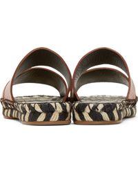 Proenza Schouler Brown Leather Espadrille Sandals - Lyst