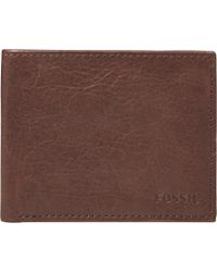 Fossil - Ingram Leather Bifold Wallet With Id Window - Lyst