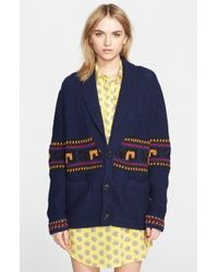 Band of Outsiders Chunky Knit Cardigan - Lyst