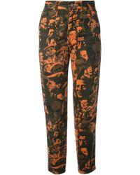 Jean Paul Gaultier Face Print Jeans - Lyst