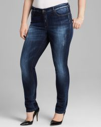 Marina Rinaldi - Plus Idrante Skinny Jeans in Navy Blue - Lyst