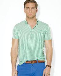 Ralph Lauren Polo Striped Lisle Pocket Shirt - Lyst