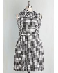Monteau Inc | Coach Tour Dress In Houndstooth | Lyst