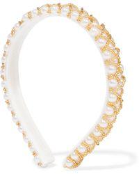 Yunotme - Lyra Beaded Faux Pearl Headband - Lyst