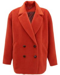 Jigsaw Llama Coat - Orange