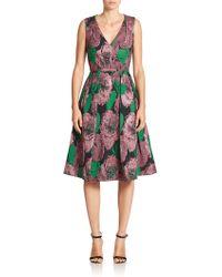 Erdem Kuni Floral Brocade Flared Dress multicolor - Lyst