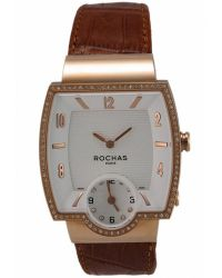 Rochas - Womens White Dial Brown Leather Watch - Lyst