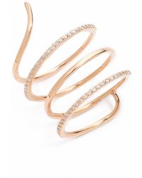Kismet by Milka - Spiral Ring Gold - Lyst