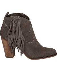 Steve Madden | Ohio Fringed Suede Boots | Lyst