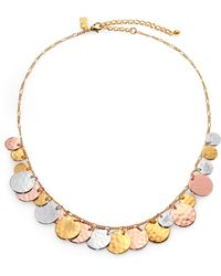 Kate Spade Lucky Penny Charm Necklace - Lyst