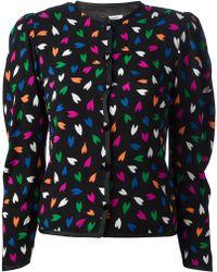 Yves Saint Laurent Vintage Heart Print Jacket - Lyst