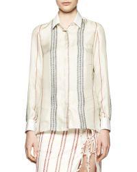 Altuzarra Chika Long-sleeve Striped Blouse - Lyst