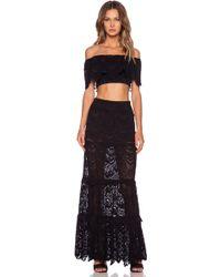 Nightcap - High Waist Spanish Maxi Skirt - Lyst