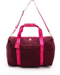 Tory Burch - Travel Nylon Duffel Bag - Cabernet - Lyst