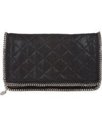 Stella McCartney Quilted Falabella Foldover Clutch - Lyst