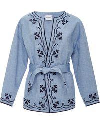 Vilshenko   Embroidered Denim Jacket   Lyst