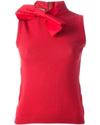 Moschino Bow Detailed Top - Lyst