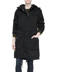 Marc By Marc Jacobs Classic Cotton Hooded Coat - Lyst