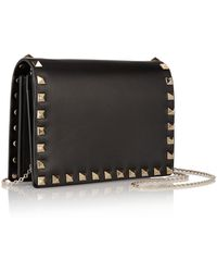 Valentino The Rockstud Leather Shoulder Bag - Lyst