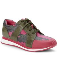 Enzo Angiolini - Pink & Olive Reeber Sneakers - Lyst