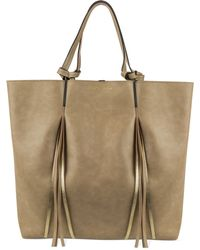Kenneth Cole Reaction Horizontal Fringe Tote gold - Lyst