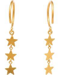 Marie-hélène De Taillac 18K Yellow Gold And Diamond Star Earrings - Metallic