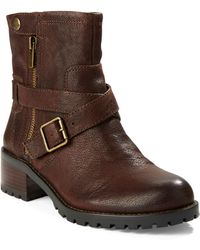 424 Fifth Walcott Leather Ankle Boots - Brown