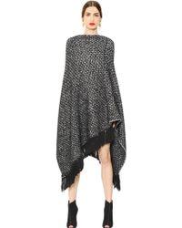 Dolce & Gabbana Fringed Cashmere Knit Poncho - Black