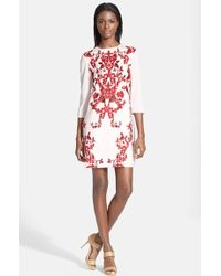 Ted Baker 'Odana' Floral Print Tunic Dress - Lyst