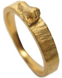 Fraser Hamilton Hand Ring Gold - Metallic