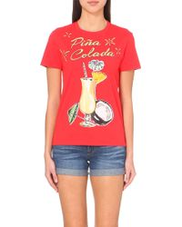 Moschino Piña Colada Cotton T-Shirt - For Women - Lyst
