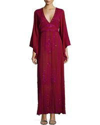 Calypso St. Barth - Demme Embellished Caftan Gown - Lyst
