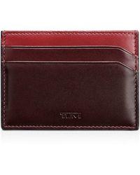 Tumi Grant Money Clip Card Case - Red