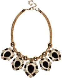 River Island Black Teardrop Gem Stone Necklace - Lyst