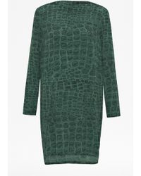 French connection Ali Gator Dress - Lyst