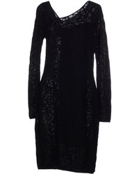 M Missoni Knee-Length Dress black - Lyst