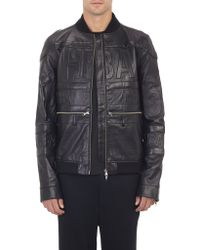 Hood By Air - Logo-Embossed Leather Bomber Jacket - Lyst