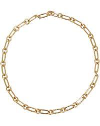 Aurelie Bidermann Hammered Oval-Link Chain - Lyst