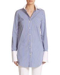 Michael Kors Striped Button-Down Shirt blue - Lyst